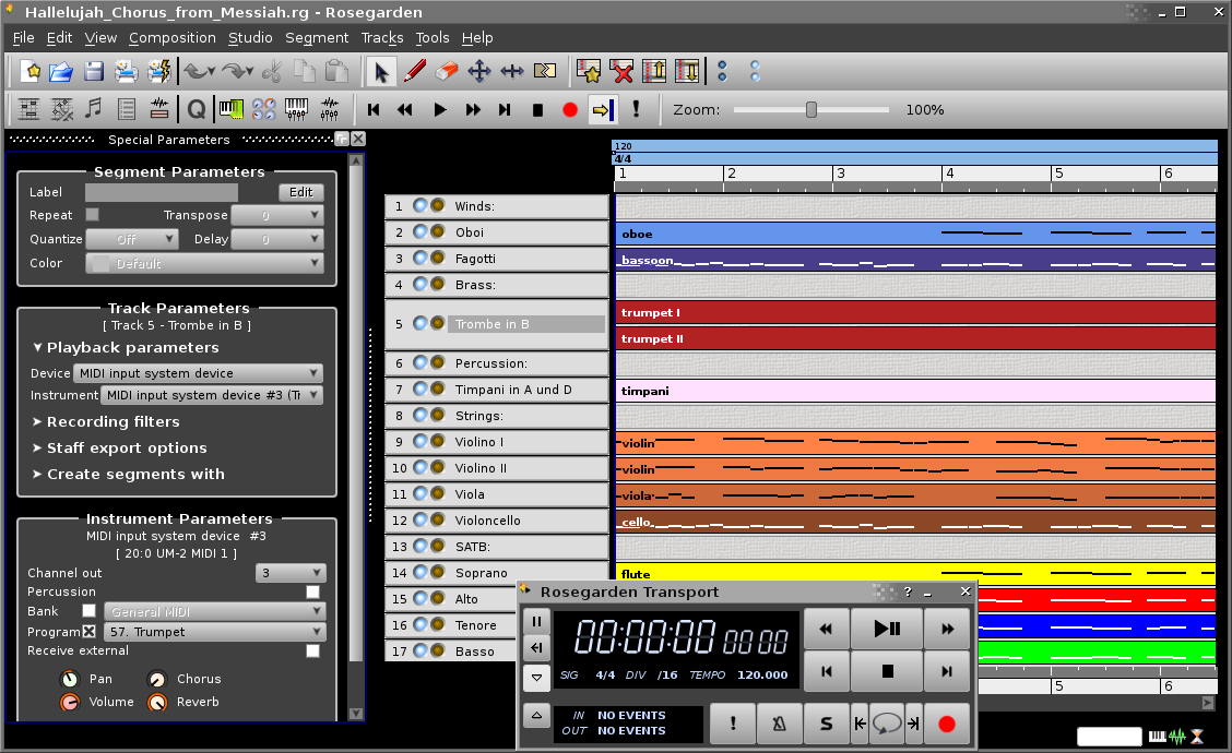 Rosegarden: music software for Linux