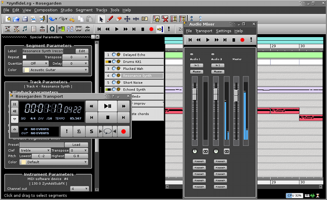 Rosegarden: music software for Linux