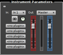 Rosegarden's instrument parameter box for an audio instrument